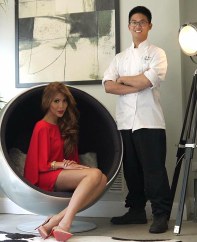 Nadine Barcelona with LUZON Chef Patron Rex de Guzman